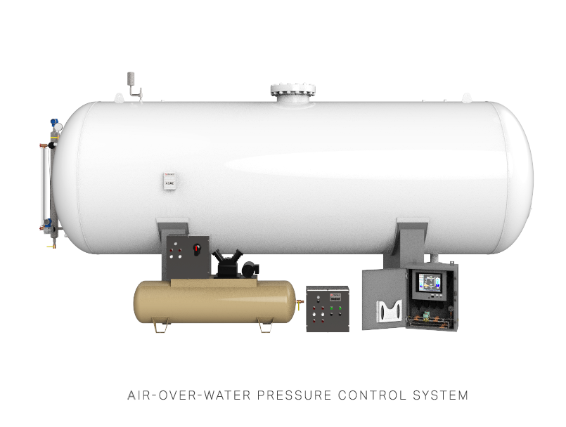 Air-Over-Water Pressure Control System