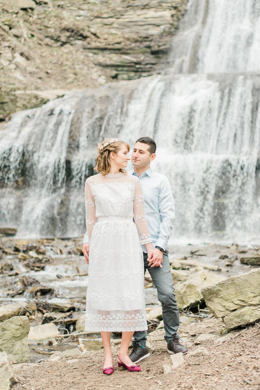 Sherman Falls Engagement Photography