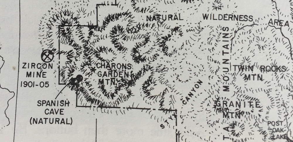 A photo of a portion of the Goonie Map