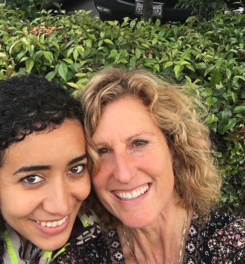 Aisha Sheikh and Wendy Appel -We finally met face-to-face in Palo Alto, California when I was there on business. We took these selfies to mark the occasion.