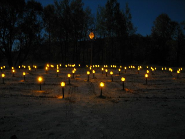Auspicious 108 solar lanterns are like a mala bead rosary glowing on the cloudy night reminding us to keep the inner light even in the darkest moments of life.
