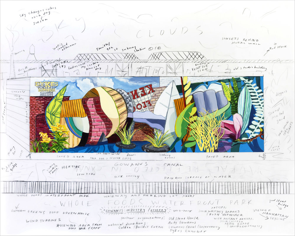 Study for Gowanus: Industry Meets Ecology Mural