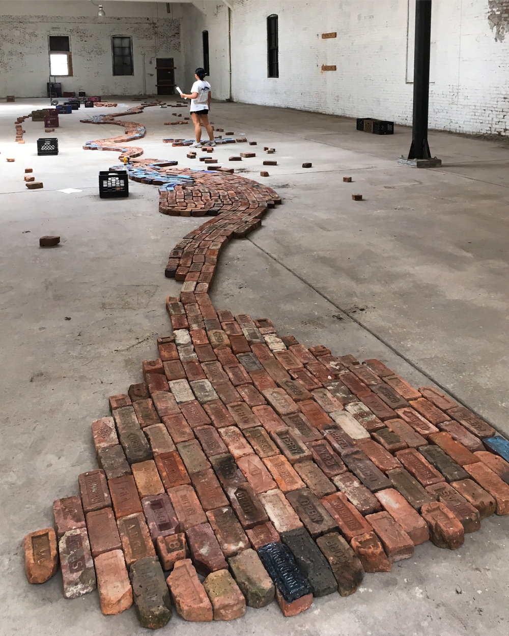 In process view of the installation August 2018.