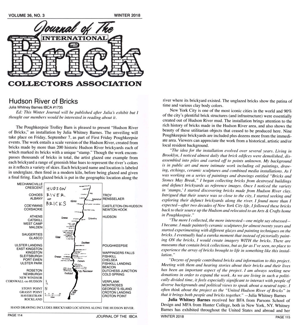 Journal of the International Brick Collectors Association