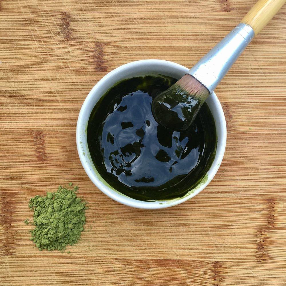 diy matcha green tea mask