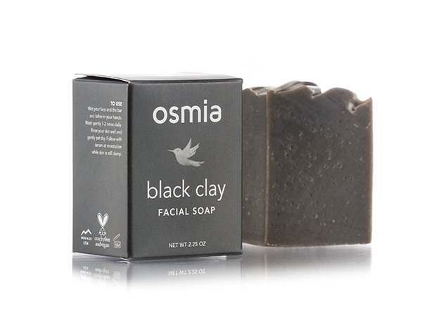Osmia black Clay facial soap// $24 - Good For: Normal, acne prone, combinationClarifying, balancing