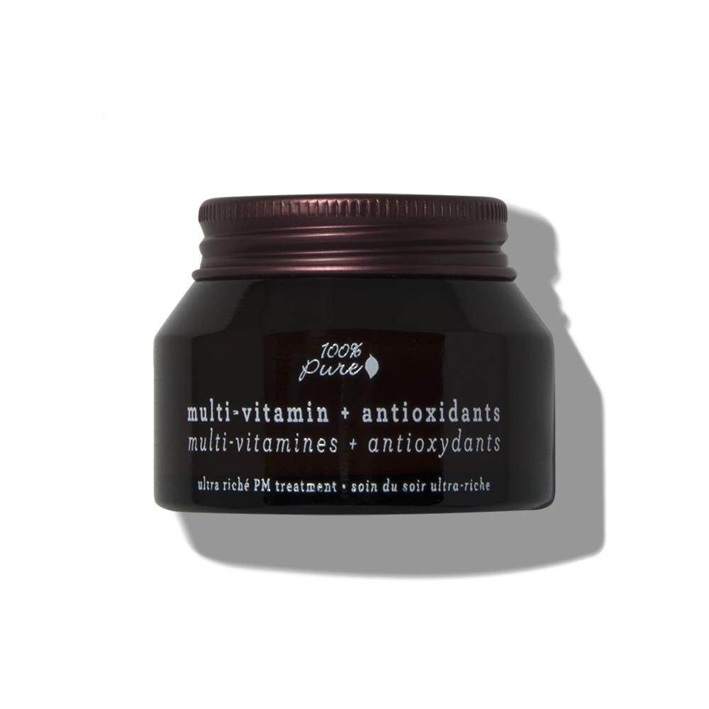 100% PURE Multi-Vitamin + Antioxidants Ultra Riche PM Treatment // $55   (mature, dry, anti-aging)