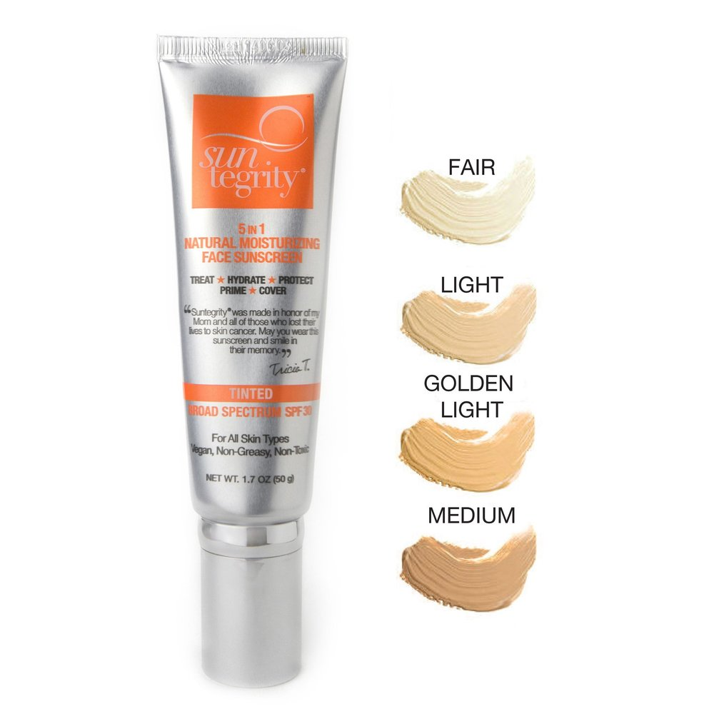 SUNTEGRITY 5-In-1 Tinted Moisturizing Face Sunscreen // $45   (all skin types)