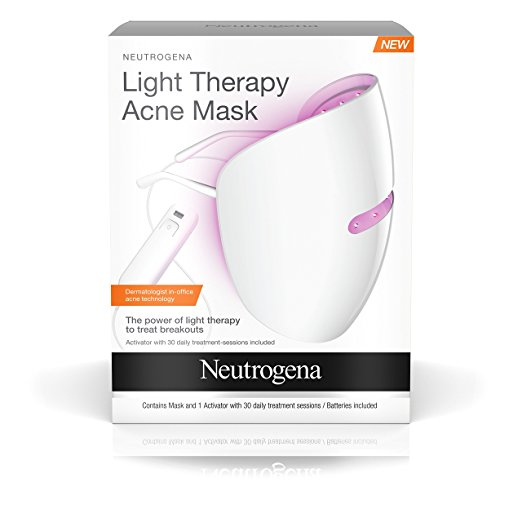 This light therapy mask is a combination of blue and red light to help heal acne, reduce blackheads and the inflammation and redness associated with acne.