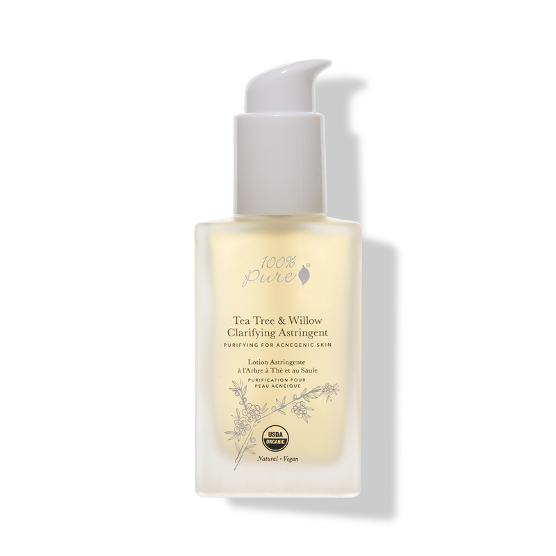 100% PURE Tea Tree & Willow Clarifying Astringent // $42 - Good For: Oily, acne pronePurifying, clarifying with willow bark