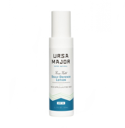 URSA MAJOR Force Field Daily Defense Lotion SPF 18 // $54   (all skin types )