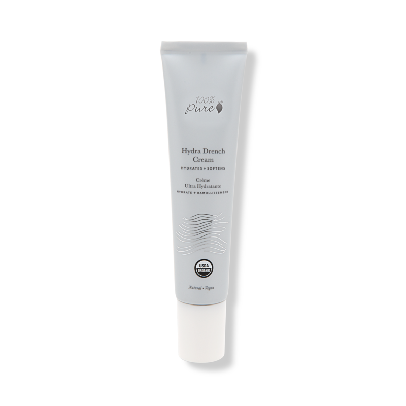 100% PURE Hydra Drench Cream // $45 - Good For: All skin typesProvides hydration for dehydrated skin