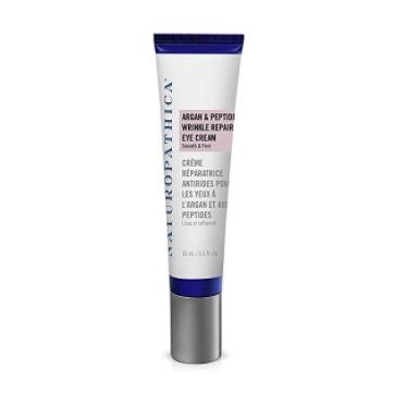 NATUROPATHICA Argan & Peptide Wrinkle Repair Eye Cream // $86 - Good For: For fine lines, wrinkles and dark circles