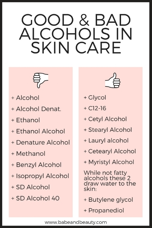 alcohol in skin care