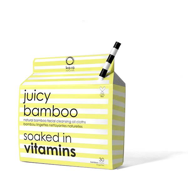 kaia Juicy Bamboo cleansing cloths // 30 count - $15.50 - Good For: All skin typesBamboo oil cleansing cloth