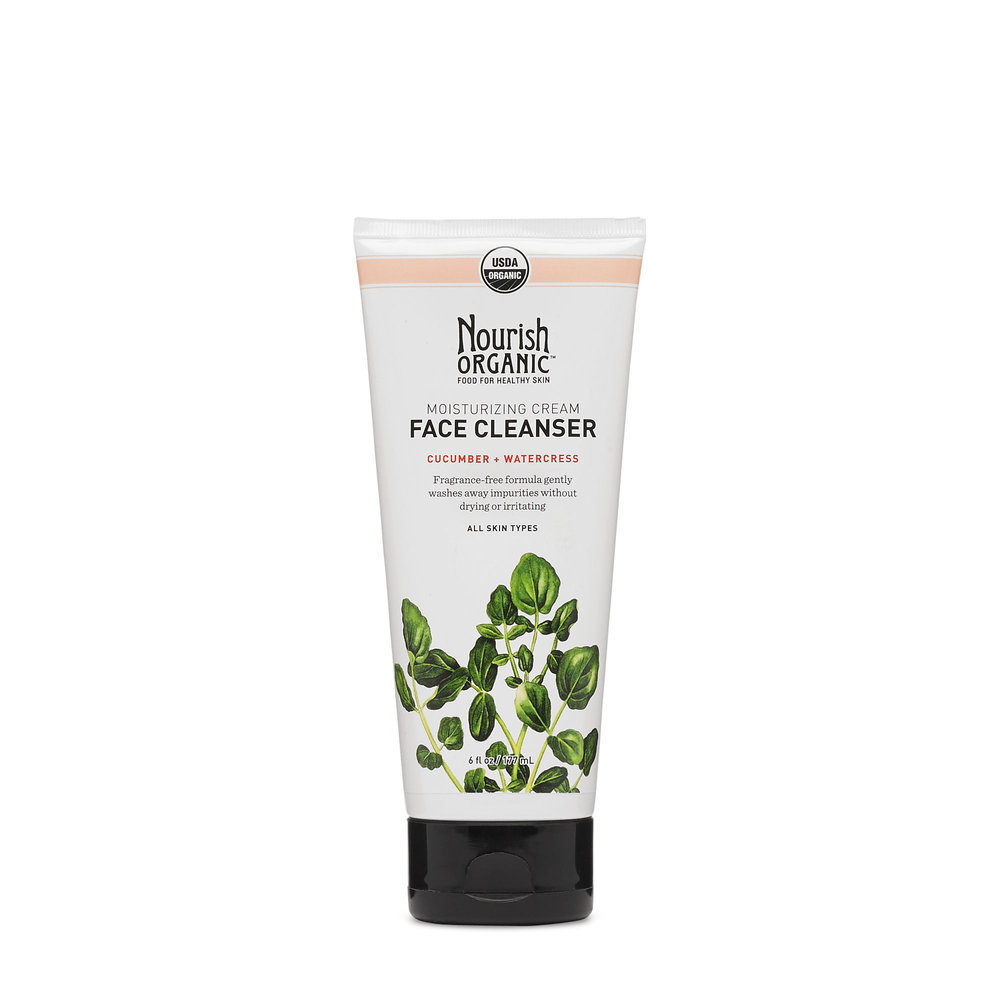 Nourish Organic Moisturizing Cream cleanser // $15 - Good For: All skin typesAnti-oxidant rich, gentle, fragrance free