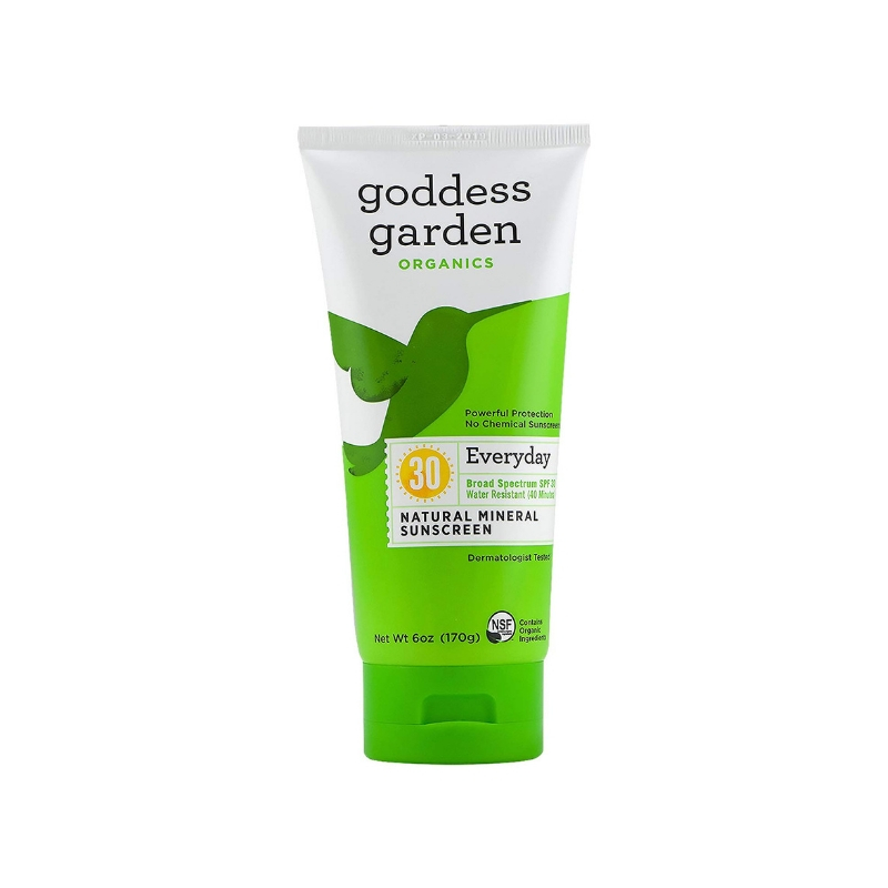 GODDESS GARDEN Natural Sunscreen SPF 30 // $13 - 6oz - reef friendly