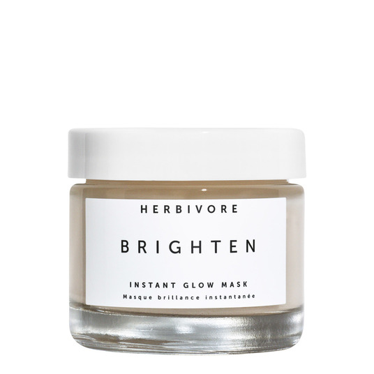 Herbivore Brighten Instant Glow mask // $48 - Good For: Sensitive, dry, dullPineapple & Papaya Enzyme exfoliating mask to gentle dissolve dead skin cells and brighten the skin.