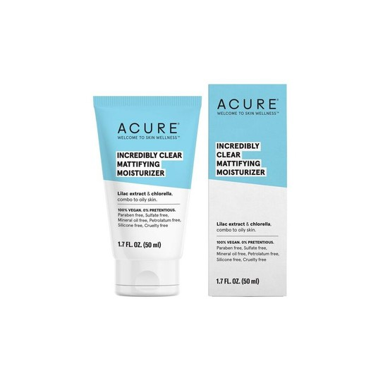 Acure Incredibly Clear Mattifying Moisturizer // $18 - Good For: Combination, oily & blemish prone skinA gentle moisturizer that keeps the skin shine free