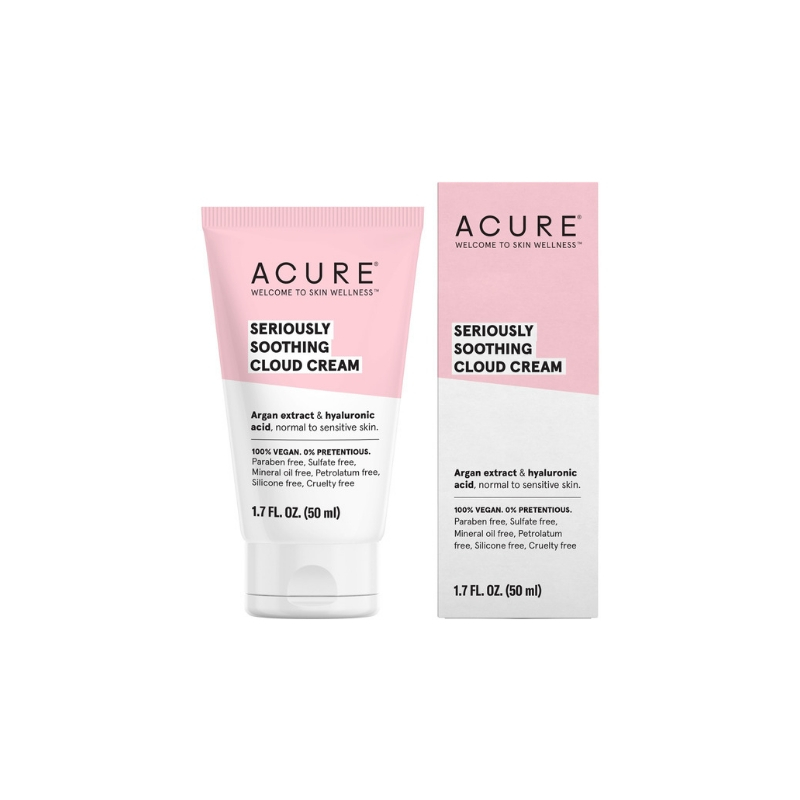 Acure Seriously Soothing cloud cream // $19 - Good For: Sensitive & drySuper fluffy lightweight cloud cream rich in hyaluronic acid