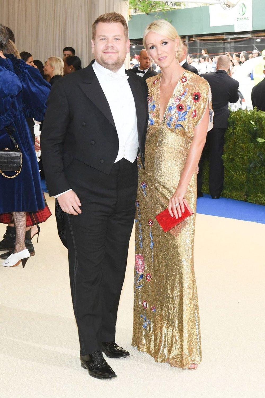 James Corden and Julia Carey.