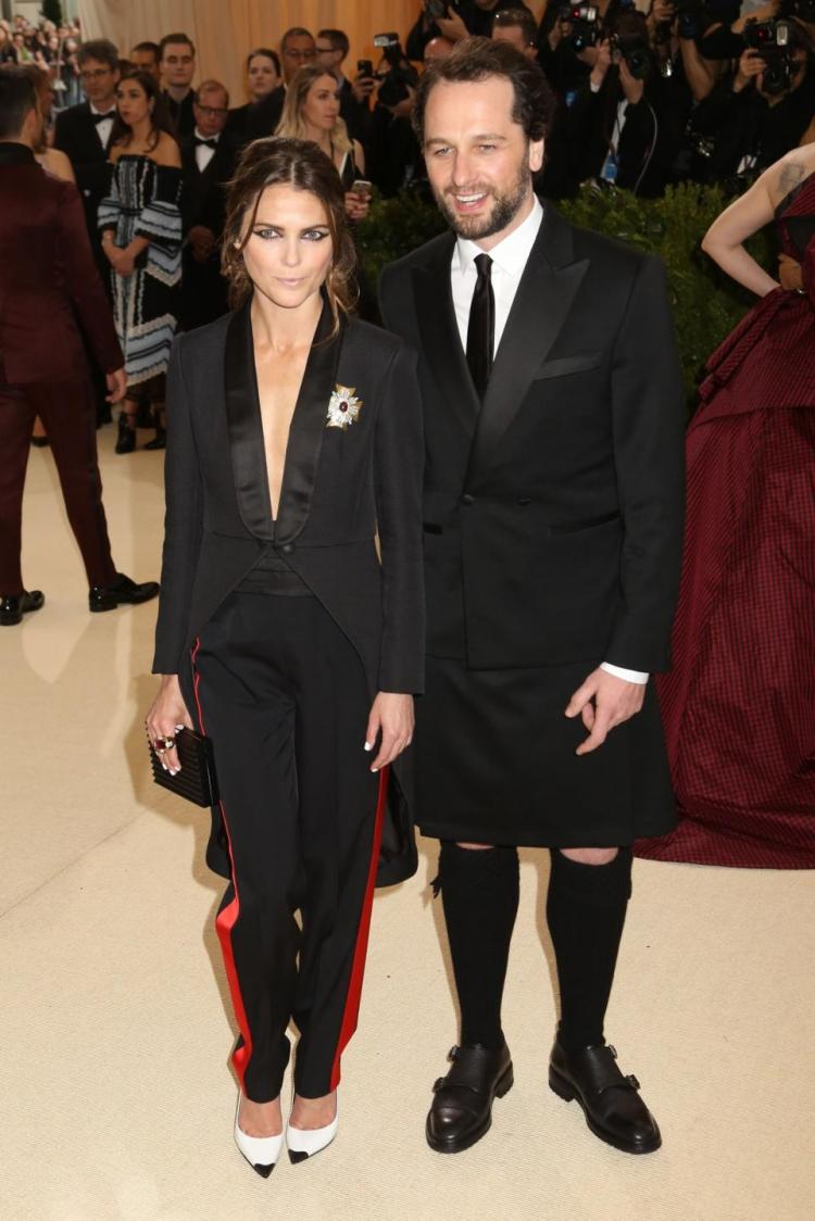 Matthew Ryhs and Kerri Russell both in custom  Rag & Bone