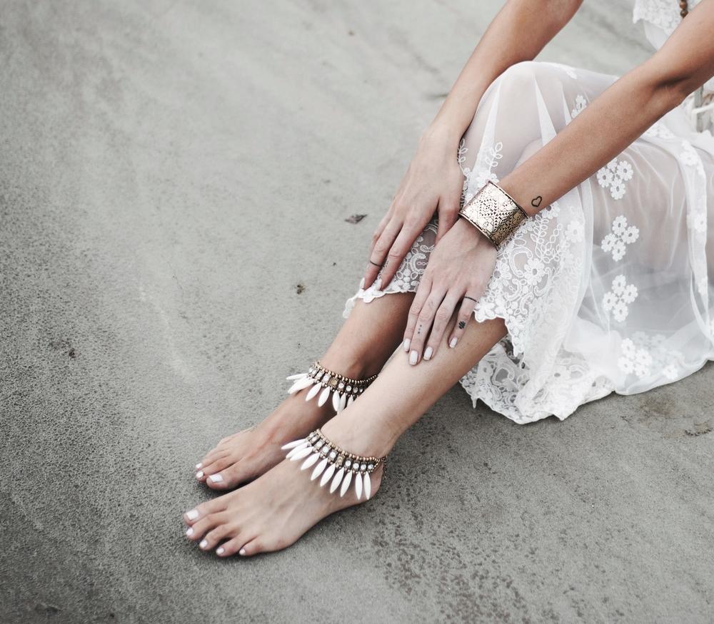 Goddess Barefoot Sandals,  Rhombus Cuff ,  ONE teaspoon Dress