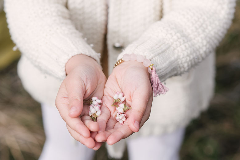 Rose Quartz Toddler Bracelet   , Cardigan -  Bohème Goods