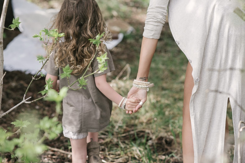 Cream, Toddler Bracelet set  paired with a single  Pyrite Bracelet