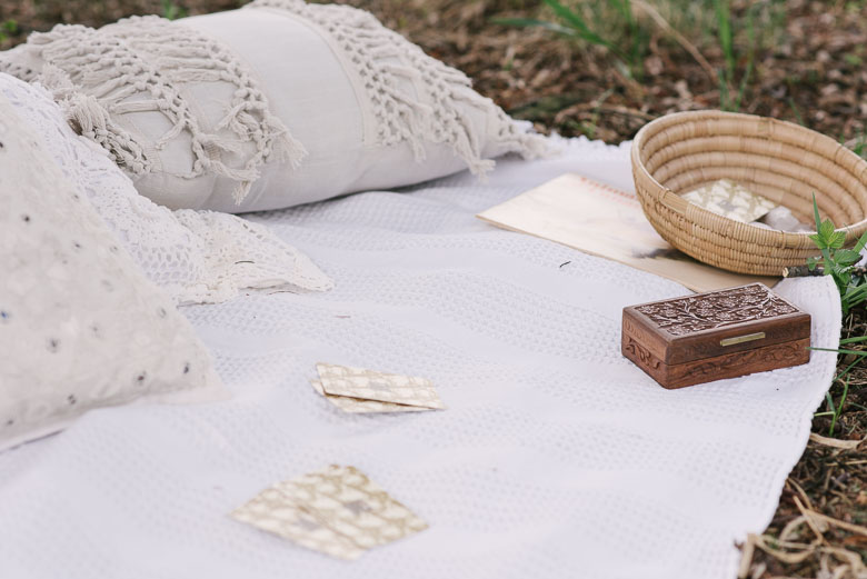 Cushions - Urban Outfitters , Wood Card Box and Coil Basket -    Bohè  me Goods