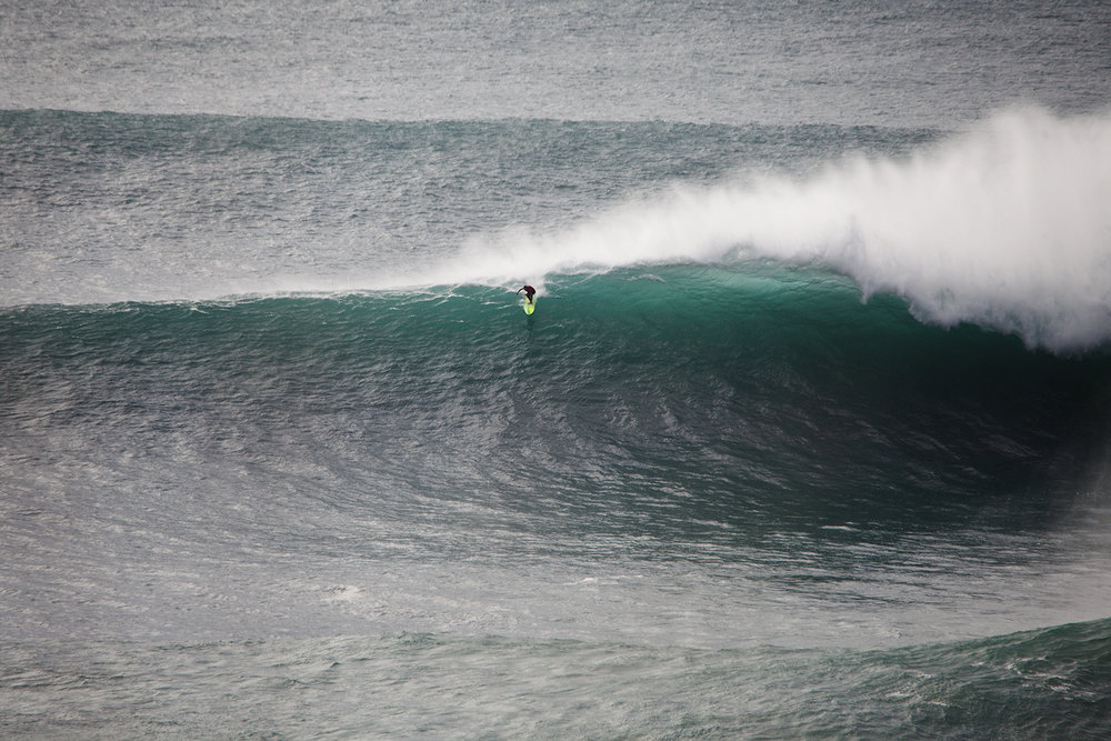 Jamie Mitchell at Nazaré A by Wake.