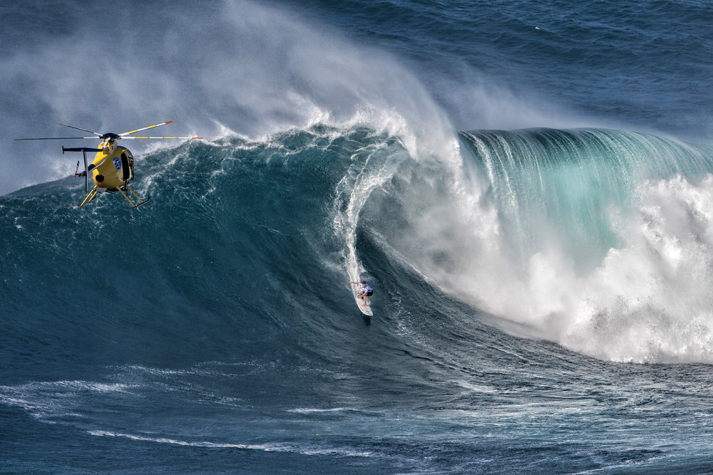 Grant Baker at Jaws by Louca