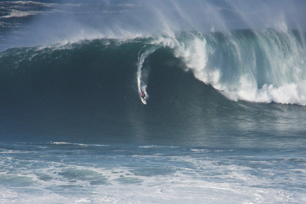 Carlos Burle at Nazaré by Santos