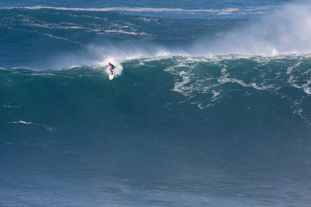 Carlos Burle at Nazaré A1 by Soares