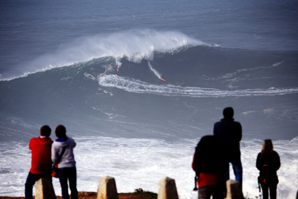Peter Mel and Lucas Chianca at Nazaré by Botelho