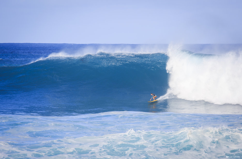 Nicole Pacelli at Waimea Bay by Castillo