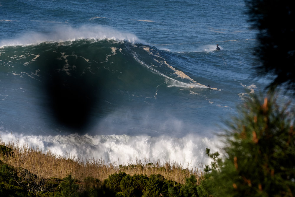 Eric Rebiere at Nazaré by Correia