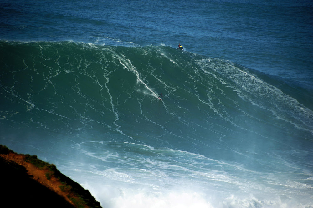 Justine Dupont at Nazaré by A Riancho