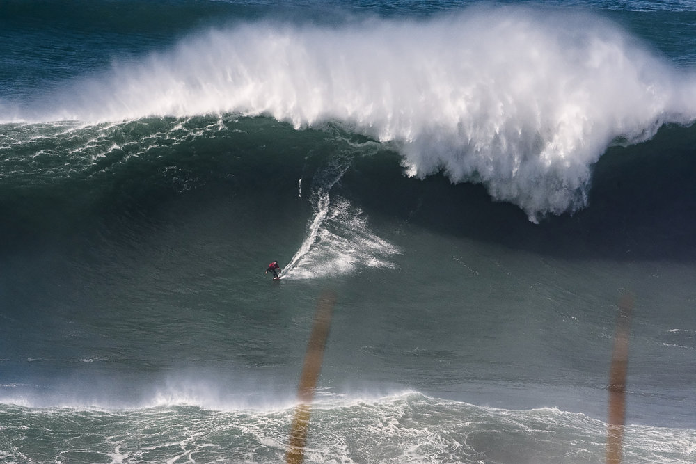 Rafel Tapia at Nazaré by Correia