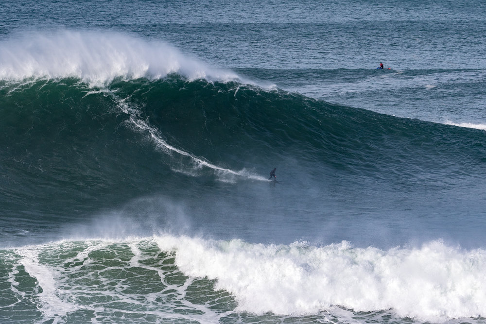 Eric Rebiere at Nazaré by Soares