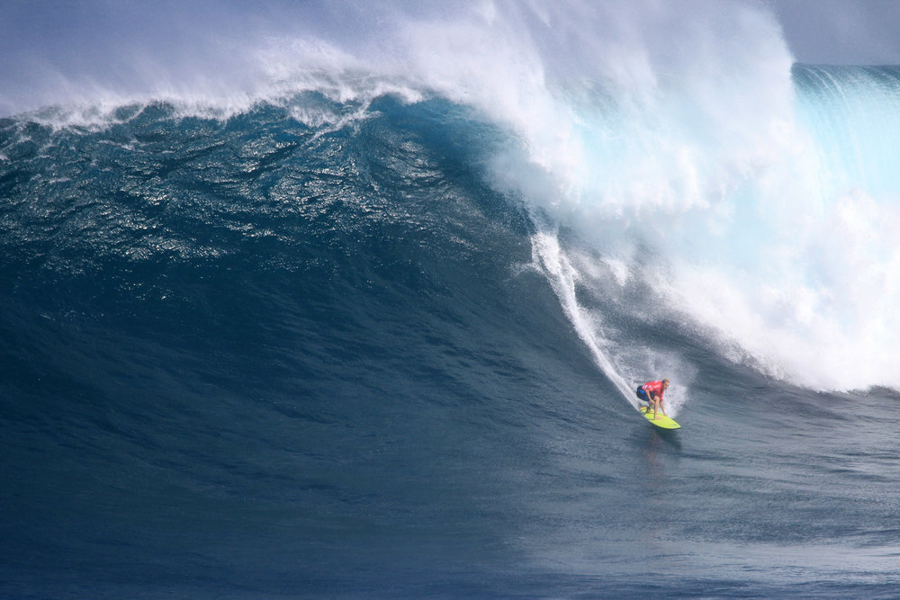 Keala Kennelly at Jaws by Lynton
