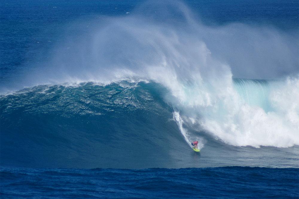 Keala Kennelly at Jaws by Carbajal