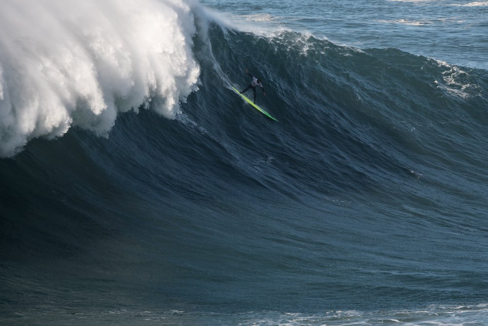 Jamie Mitchell at Nazaré by Aleixo