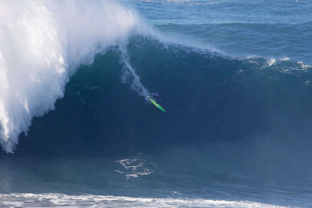 Jamie Mitchell at Nazaré by Soares