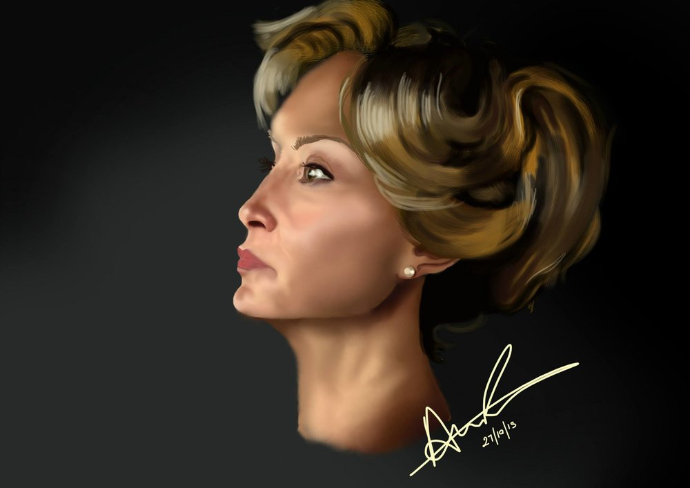 Jessica Lange illustration