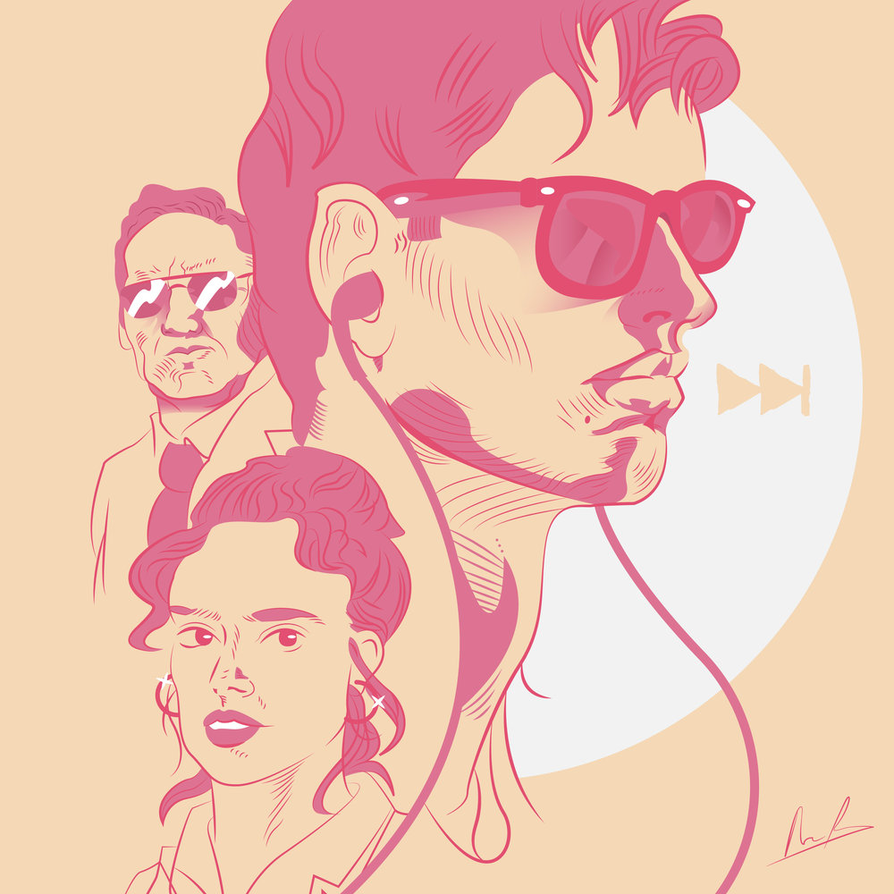 Baby Driver Alisa Pavia Illustration