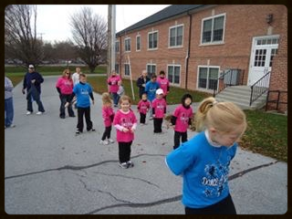 Dancing in the annual Myerstown Holiday Parade