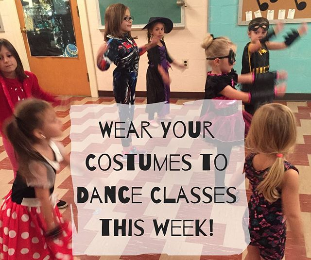 It's a fun week this week at @dancealicious_dance_studio we are getting spooky with costumes!