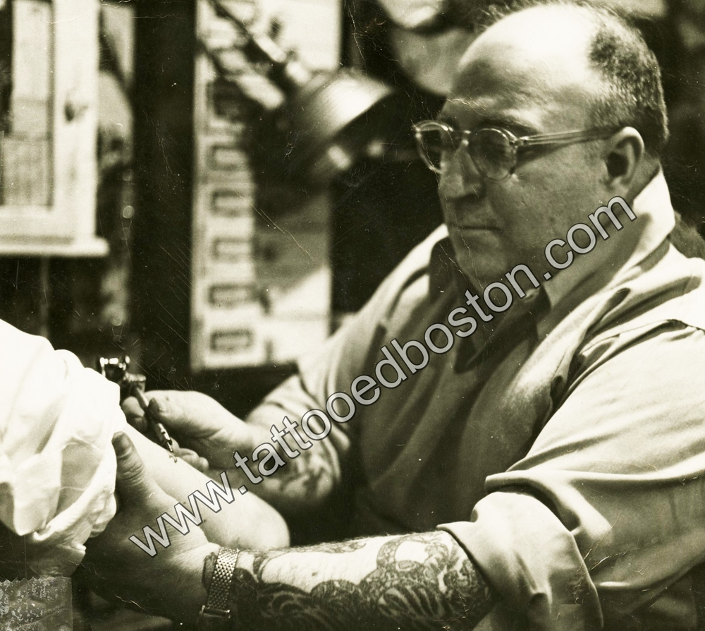 Frank Liberty Tattooing in Scollay Square, Boston, ca. 1952