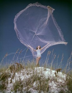 woman with net
